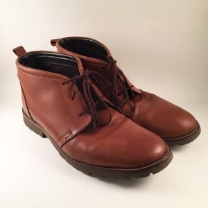 Mens ROCKPORT Ankle Boots Brown Leather Size 11 M
